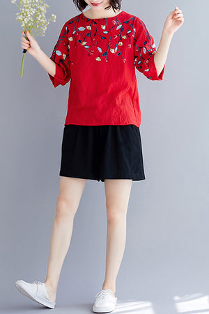 Rosette Top (More Colors) (Non-Returnable)