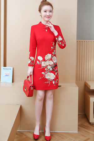 Tiffany Cheongsam (More Colors) (Non-Returnable)