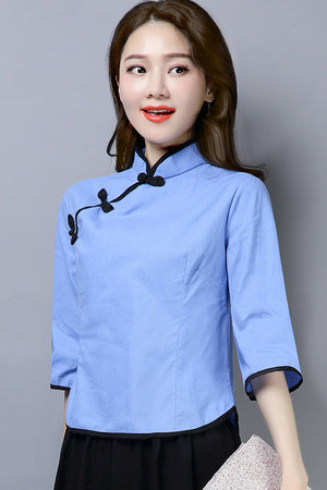 Antheia Cheongsam Top (More Colors) (Non-Returnable)