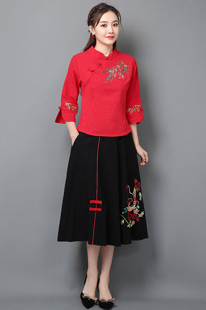 Ania Cheongsam Top (More Colors)