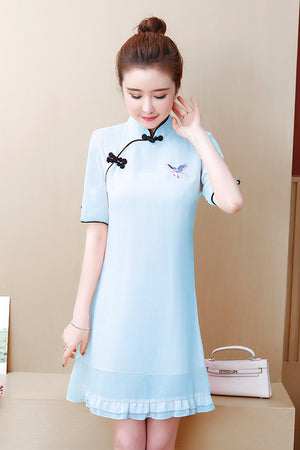 Olga Cheongsam (More Colors) (Non-Returnable)