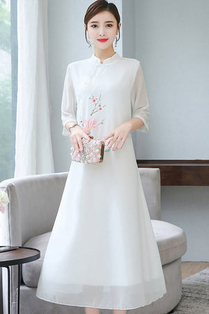 Bistra Cheongsam (More Colors) (Non-Returnable)