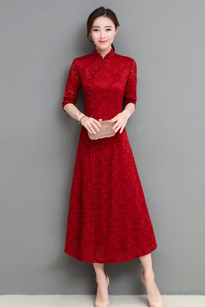 Butler Cheongsam (More Colors) (Non-Returnable)