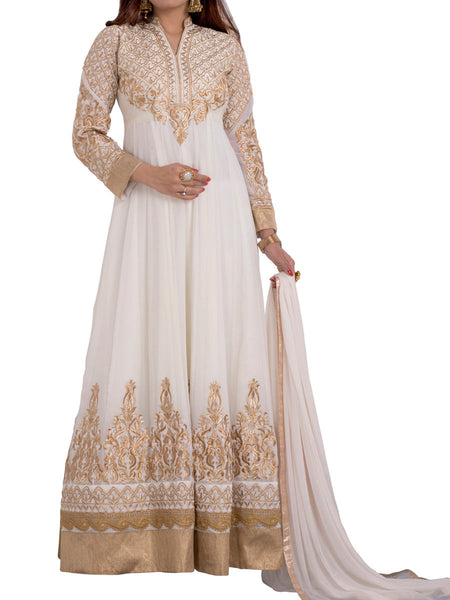 Cream Colored Georgette Suit - ST-PKAS5MH5