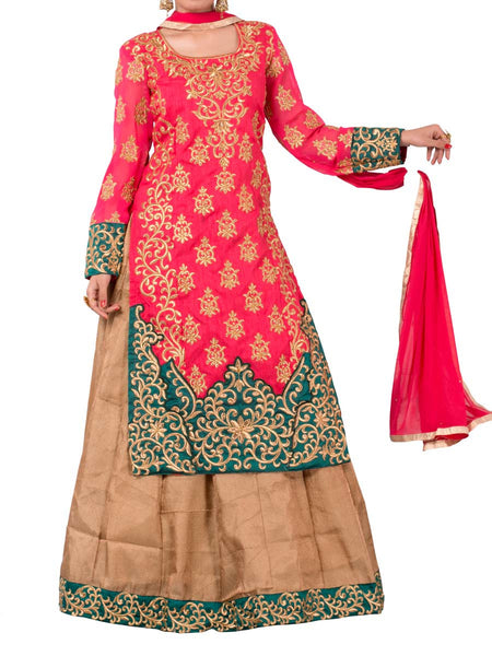 Pink and beige Colored Georgette Suit - ST-PKAS5MH6