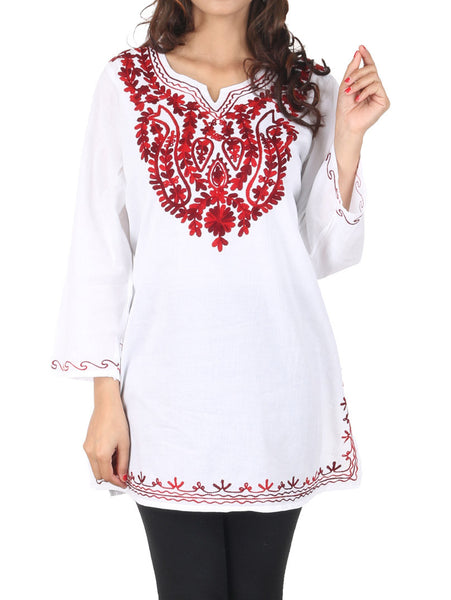 Kurti From Kashmir In Maroon - PKKD28FB1