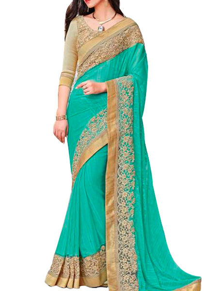 Saree From West Bengal In Crest Green - PWBSAI19JN88
