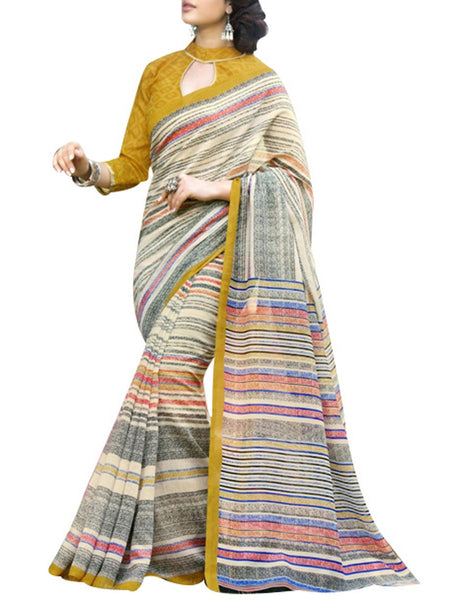 Saree From West Bengal In Multicolour - PWBSAI19JN126
