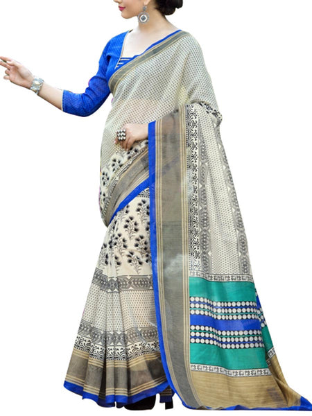 Saree From West Bengal In Off White - PWBSAI19JN132