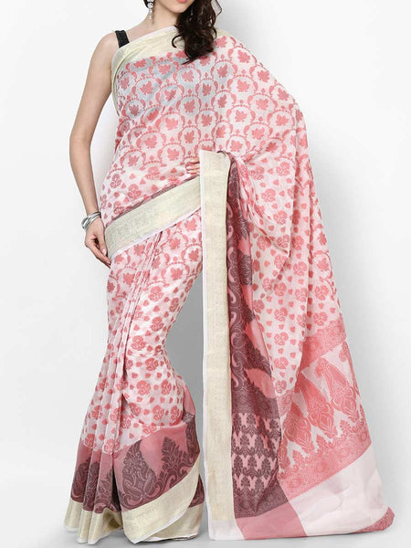 Banarasi Saree In White - RB-BPBUSA11JL372