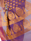 Banarasi Saree In Cotton Blend Purple - RB-BPBUSA11JL77
