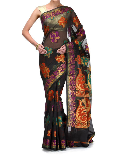 Banarasi Saree In Faux Black - RB-BPBUSA25FB26