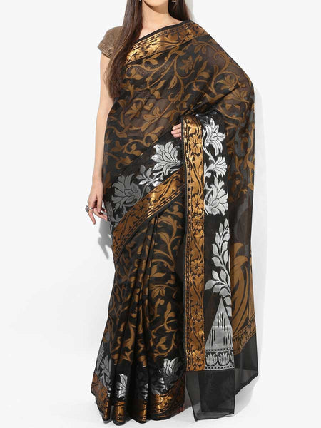 Banarasi Saree In Organza Black - RB-BPBUSA11JL297