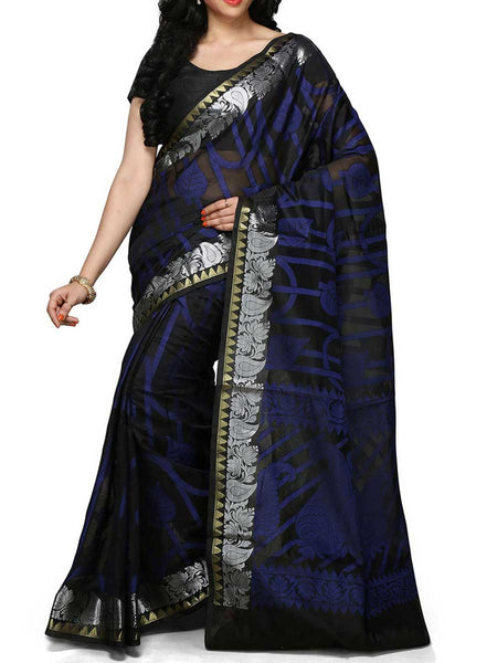 Banarasi Saree In Faux Black - RB-BPBUSA11JL182