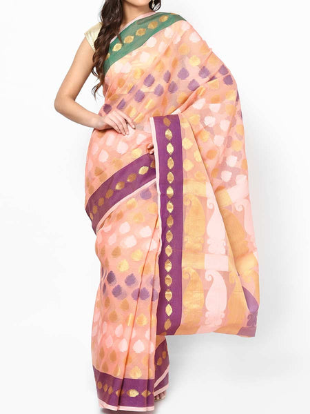 Banarasi Saree In Moonga Multi Peach - RB-BPBUSA11JL152