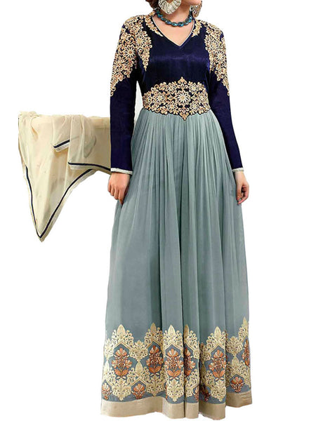 Grey Color Suit With Bottom And Dupatta - ST-PKAS21JY29