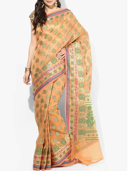 Banarasi Saree In Supernet Orange - RB-BPBUSA11JL280
