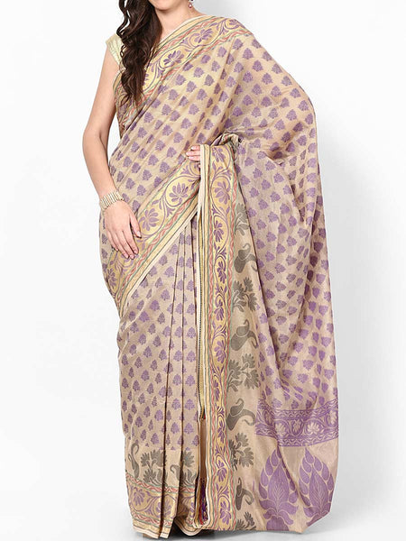 Banarasi Saree In Beige - RB-BPBUSA11JL371