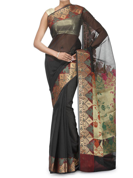 Banarasi Saree In Moonga Black - RB-BPBUSA25FB39