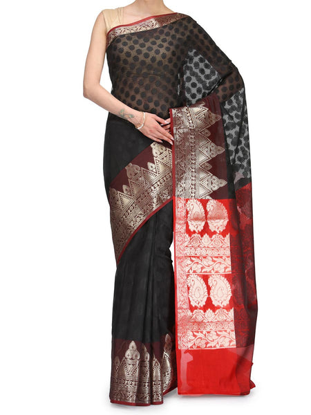Banarasi Saree In Supernet Black - RB-BPBUSA25FB44