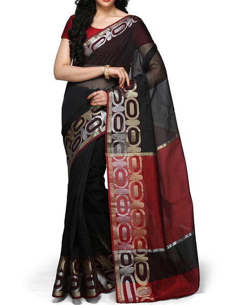 Banarasi Saree In Supernet Black - RB-BPBUSA11JL184