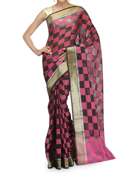 Banarasi Saree In Supernet Black - RB-BPBUSA25FB53