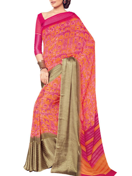 Saree From West Bengal In Multicolour - PWBSAI19JN68