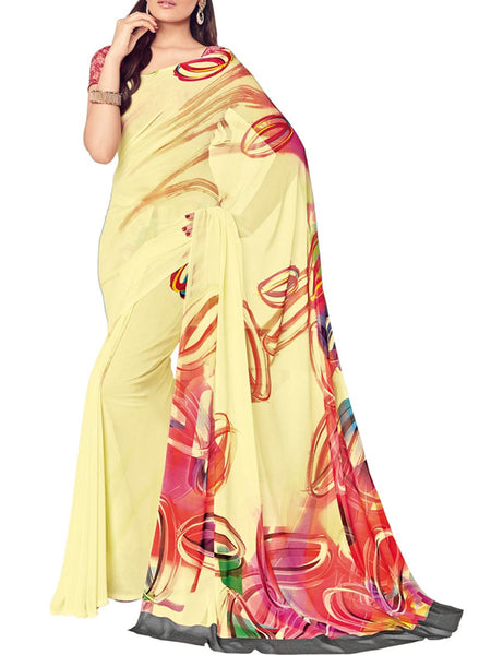 Saree From West Bengal In Yellow - PWBSAI19JN70