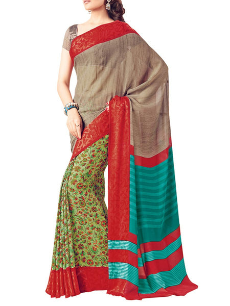 Saree From West Bengal In Multicolour - PWBSAI19JN71