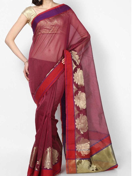 Banarasi Saree In Supernet Pink - RB-BPBUSA11JL264
