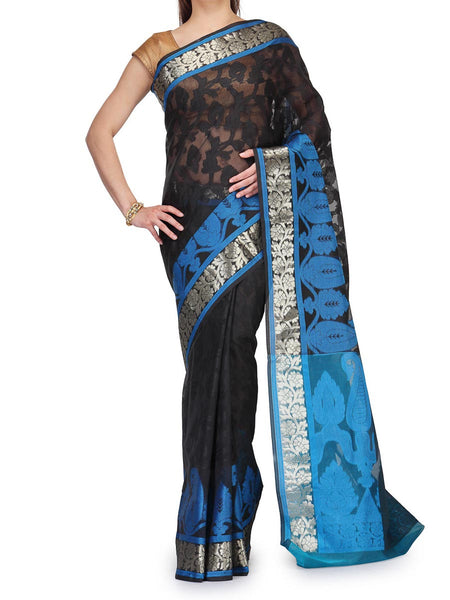 Banarasi Saree In Supernet Black - RB-BPBUSA25FB97