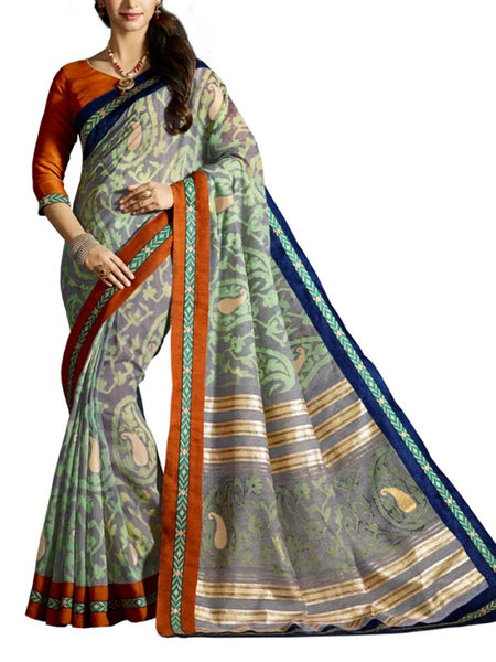 Saree From West Bengal In Multicolour - PWBSAI19JN32