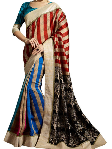 Saree From West Bengal In Multicolour - PWBSAI19JN37