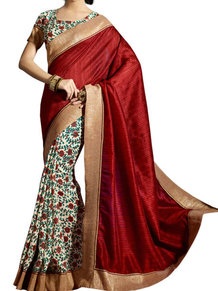 Saree From West Bengal In Multicolour - PWBSAI19JN45