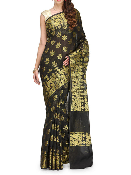 Banarasi Saree In Supernet Black - RB-BPBUSA11JL50