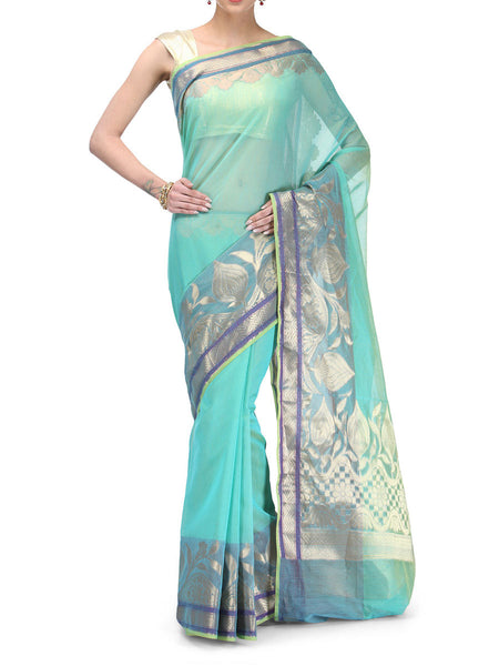 Banarasi Saree In Supernet Sea Green - RB-BPBUSA11JL53