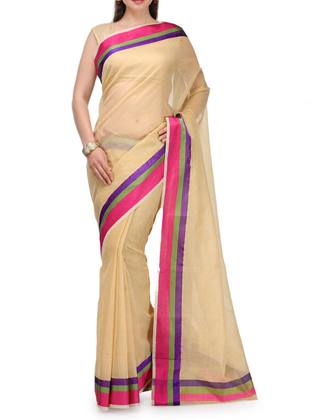 Banarasi Saree In Supernet Beige - RB-BPBUSA11JL61