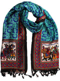 Art Silk Dupatta From Bhagalpur In Blue - CBBD15JN1