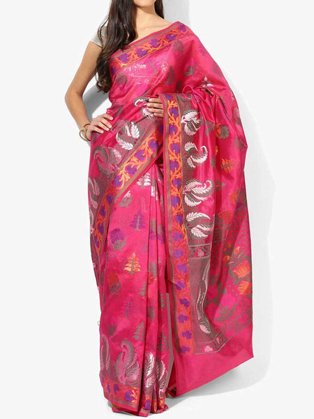 Banarasi Saree In Pink - RB-BPBUSA11JL405