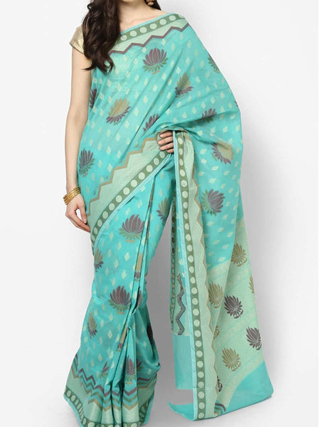 Banarasi Saree In Cotton Green - RB-BPBUSA11JL270