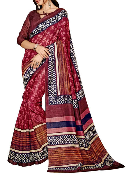 Saree From West Bengal In Multicolour - PWBSAI19JN105