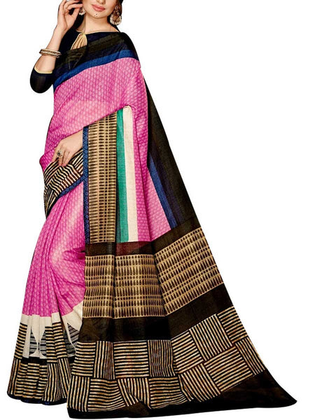 Saree From West Bengal In Pink - PWBSAI19JN110
