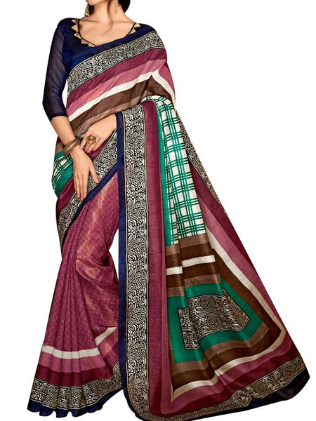 Saree From West Bengal In Multicolour - PWBSAI19JN117