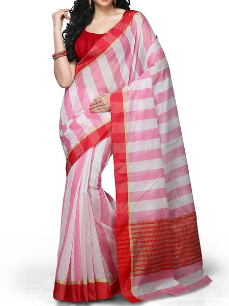 Banarasi Saree In Chanderi White - RB-BPBUSA11JL319