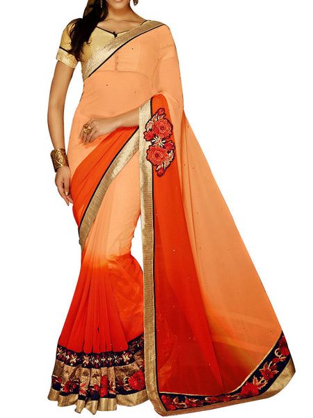 Cream & Red Jacquard  Saree With Multicolour Art Silk Blouse - PWBSAI24MA19