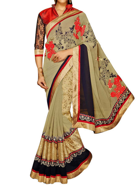 Multicolour Jacquard  Saree With Multicolour Art Silk Blouse - PWBSAI24MA23