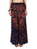 Block Print Jaipuri Palazzo Pants In Blue - PJRTPP7OCT7