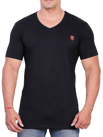 Cotton T Shirt From Delhi In Black - PT-PDT29AG16