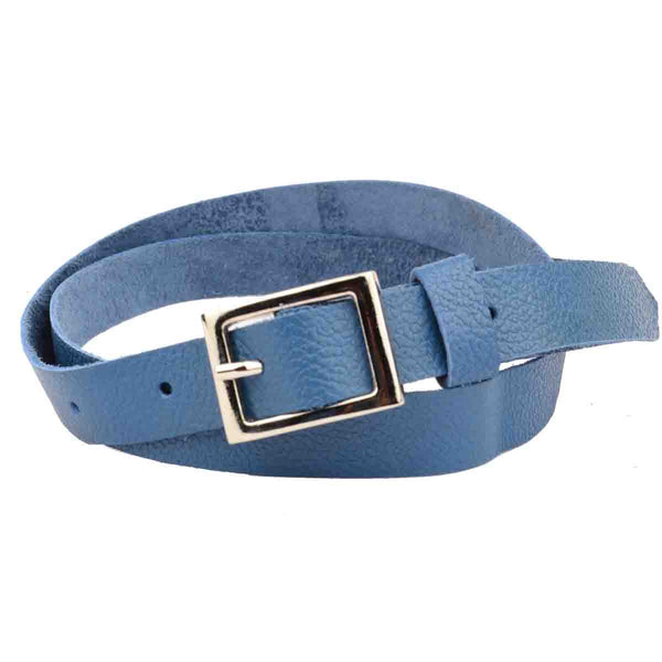 Violet Blue Kanpur Leather Belt-CKUB10