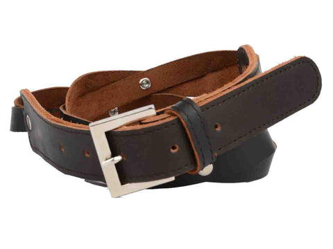 Dark Brown Kanpur Leather Belt-CKUB1